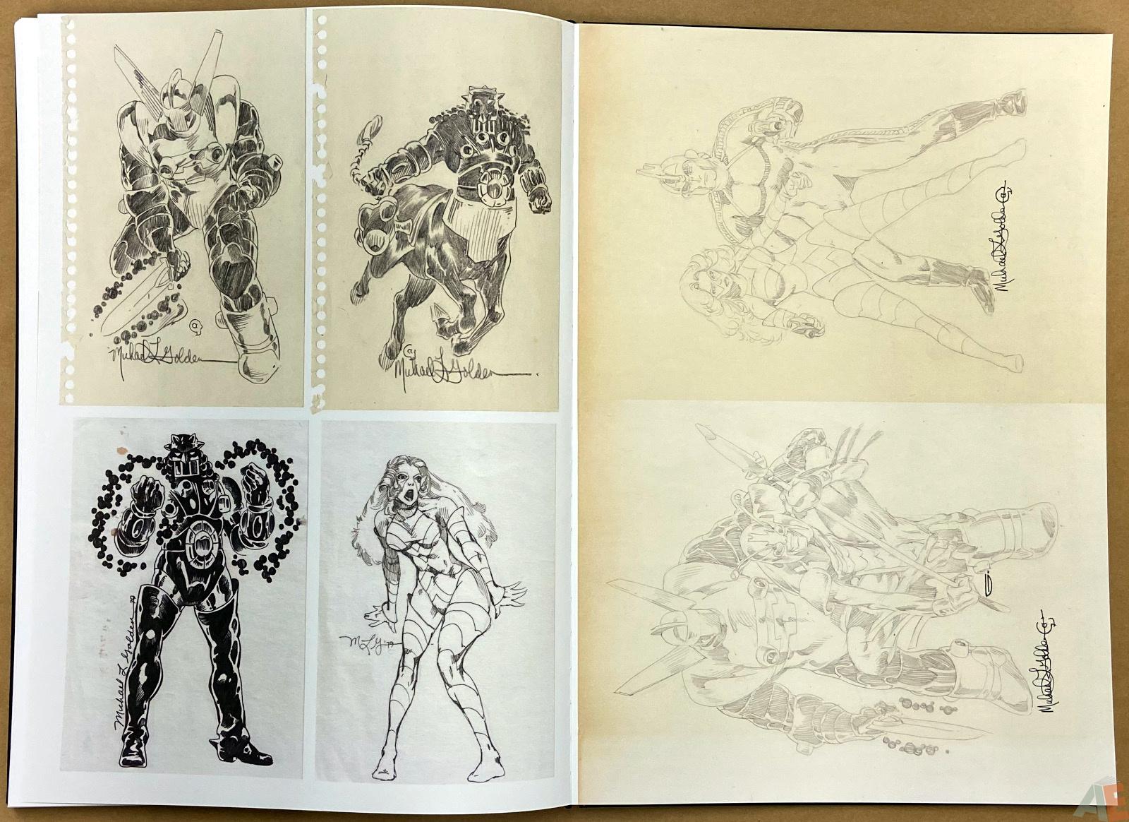 Michael Goldens Micronauts Artists Edition interior 18