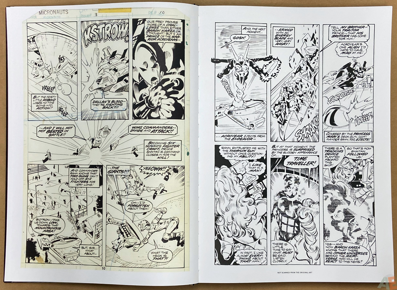Michael Goldens Micronauts Artists Edition interior 4