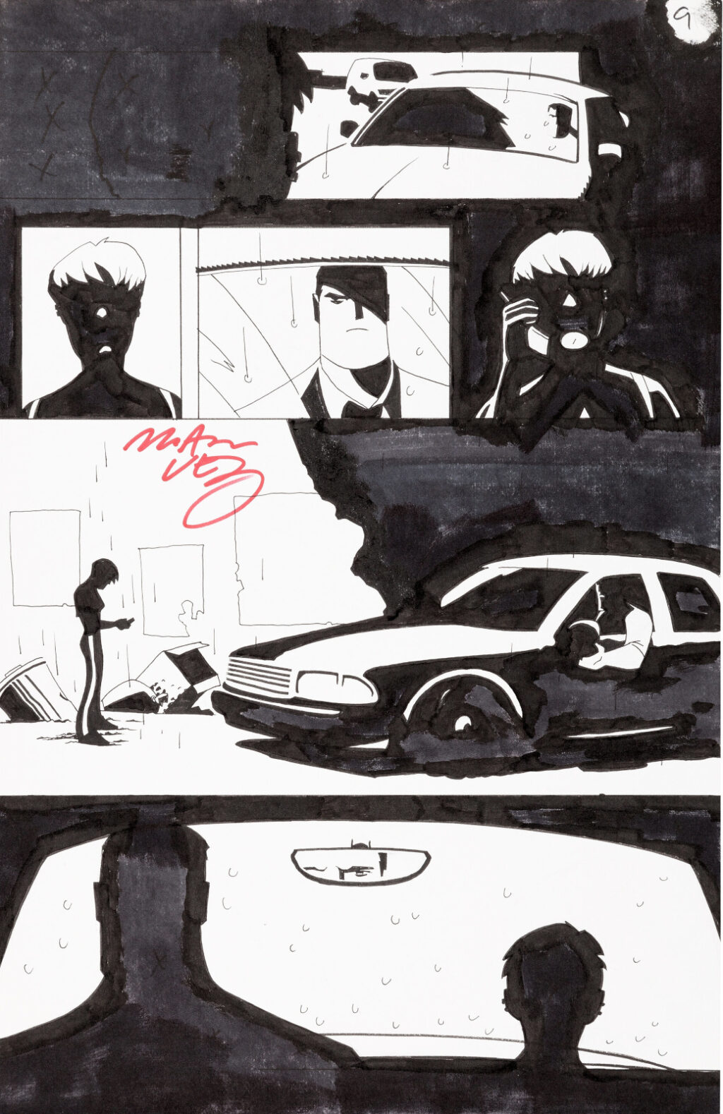 Powers issue 17 page 9 by Michael Avon Oeming