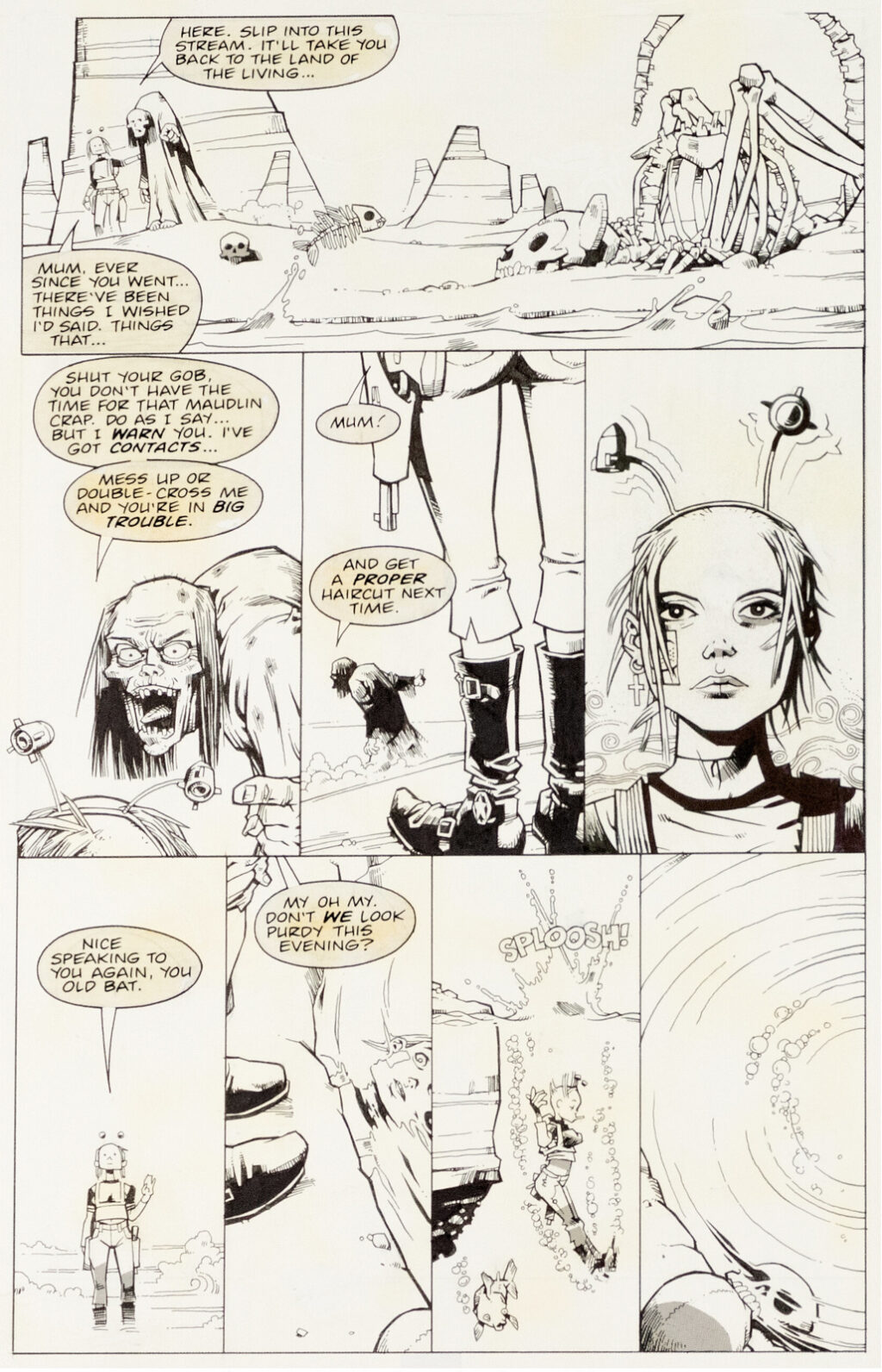 Tank Girl The Odyssey issue 1 page 21 by Jamie Hewlett