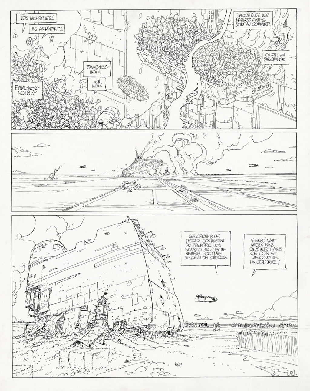 The Incal page 18 by Moebius