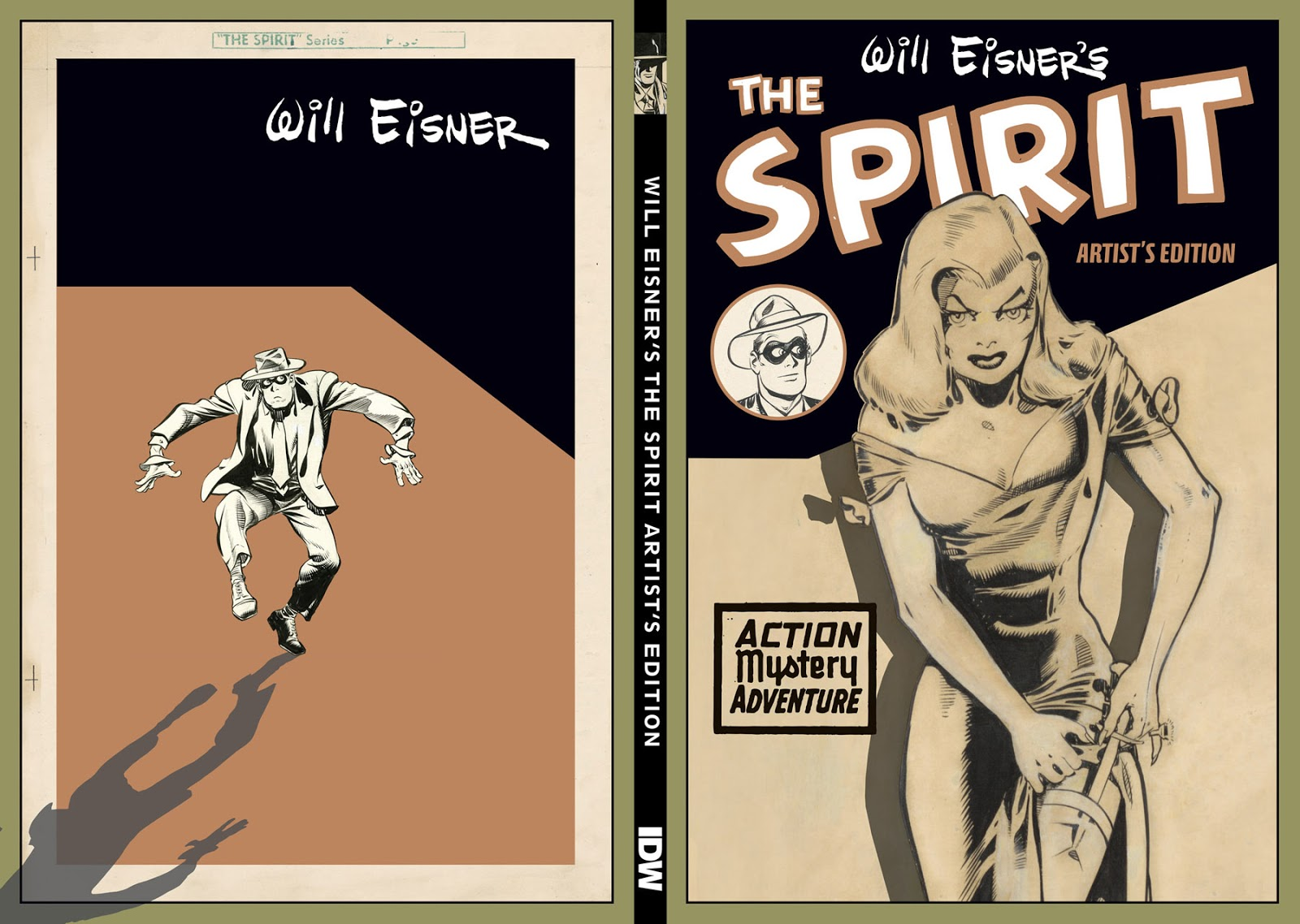 Will Eisners The Spirit Artists Edition variant cover spread