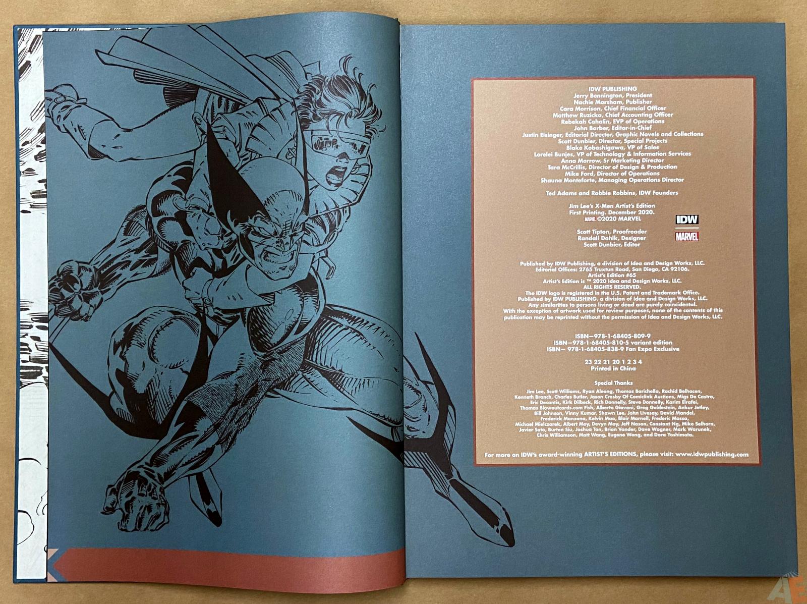 Jim Lees X Men Artists Edition interior 1