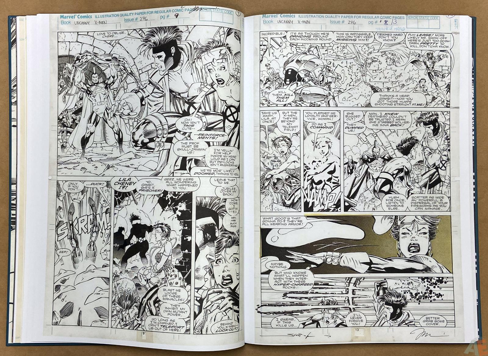 Jim Lees X Men Artists Edition interior 10