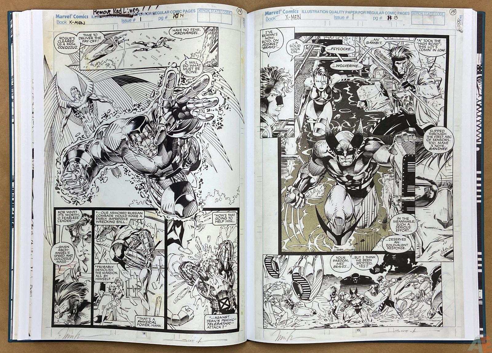 Jim Lees X Men Artists Edition interior 13