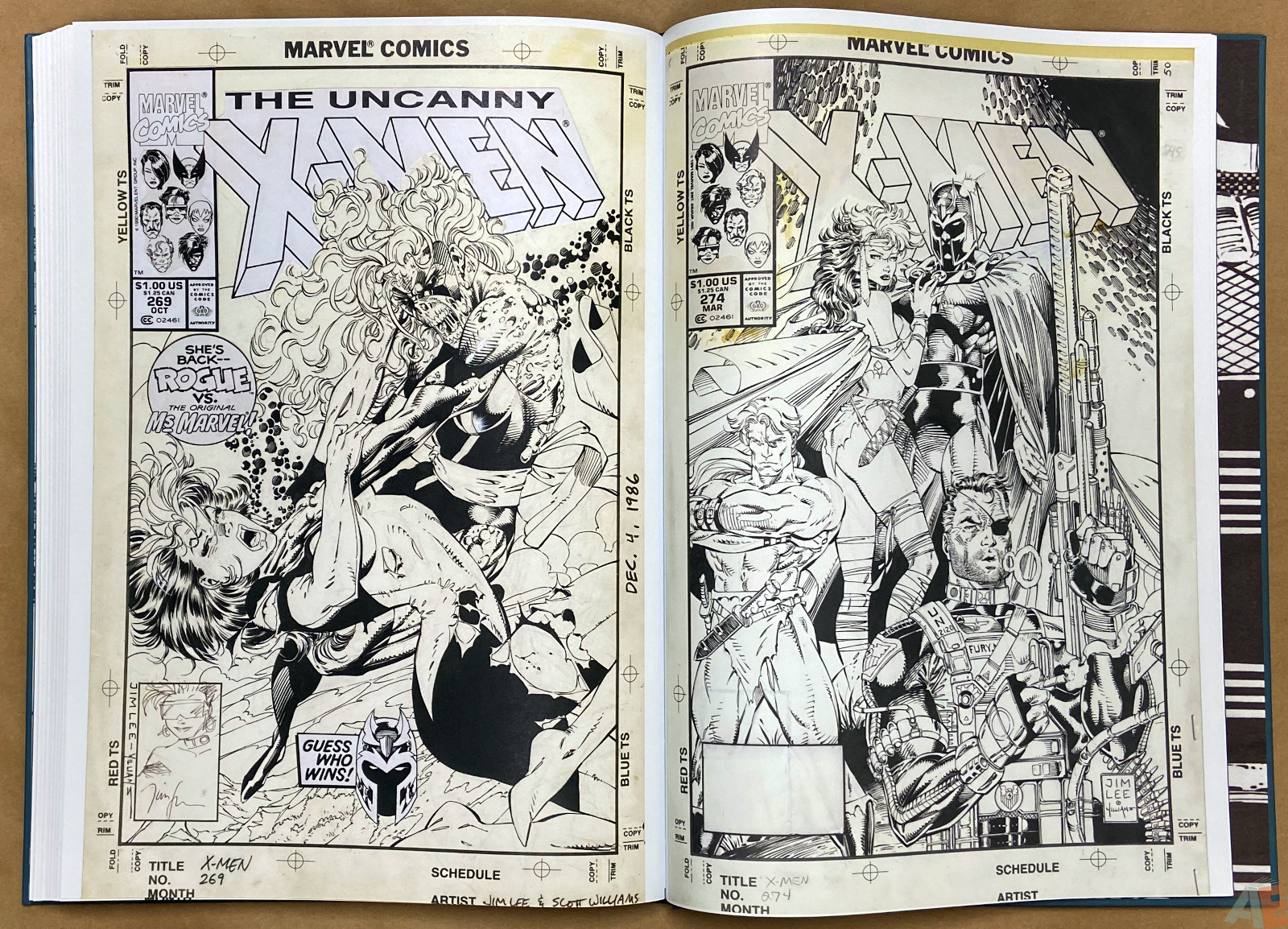 Jim Lees X Men Artists Edition interior 19