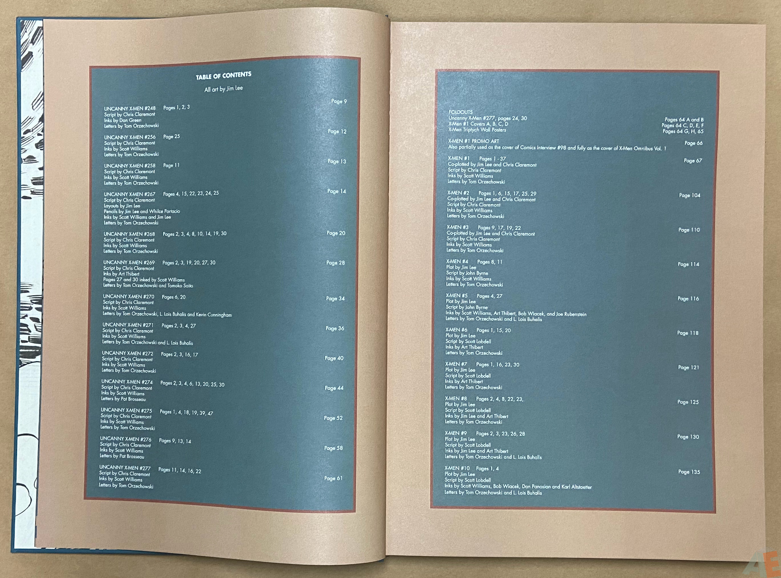 Jim Lees X Men Artists Edition interior 2