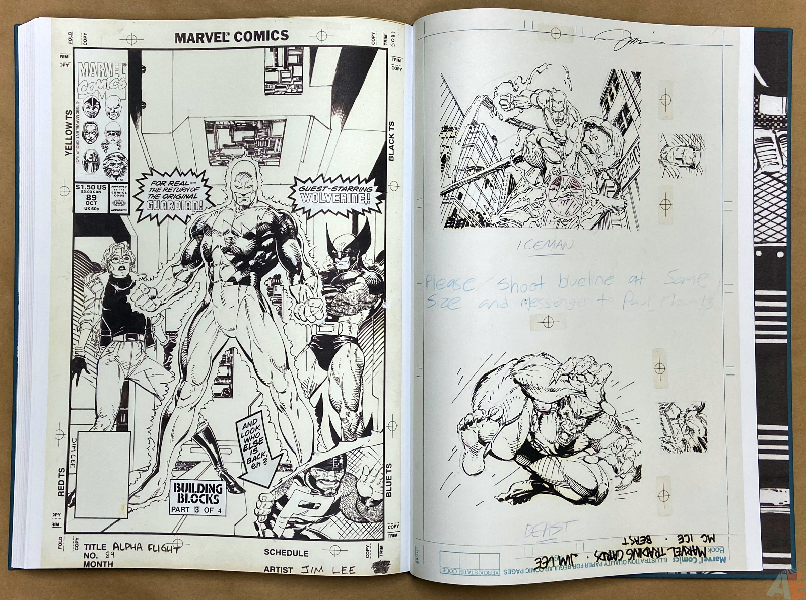 Jim Lees X Men Artists Edition interior 21