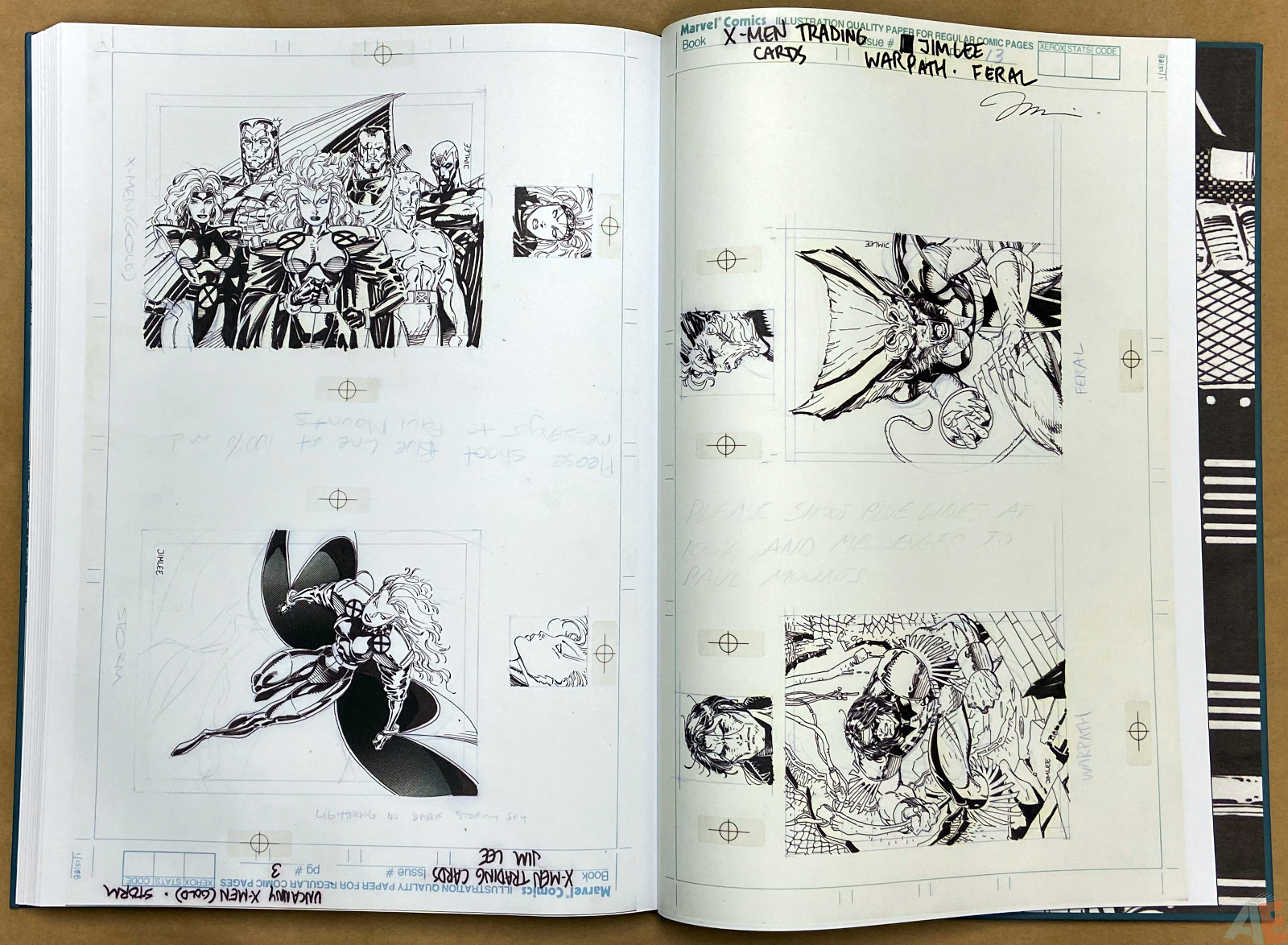 Jim Lees X Men Artists Edition interior 22
