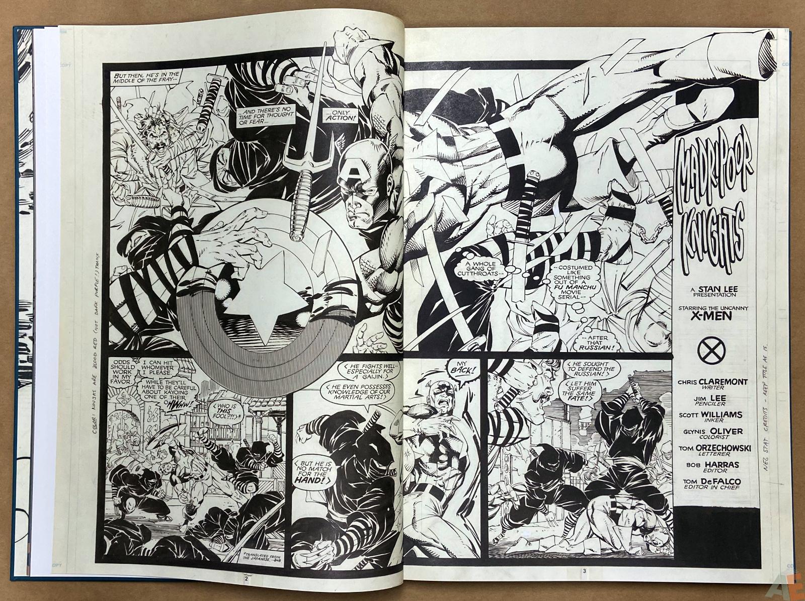 Jim Lees X Men Artists Edition interior 6