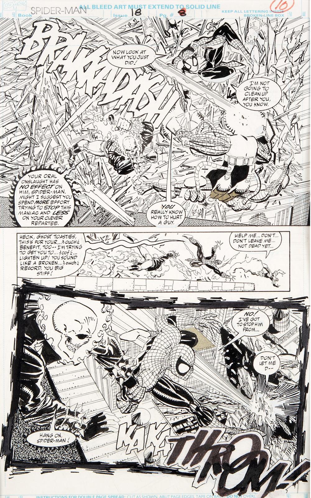 Spider Man issue 18 page 8 by Erik Larsen