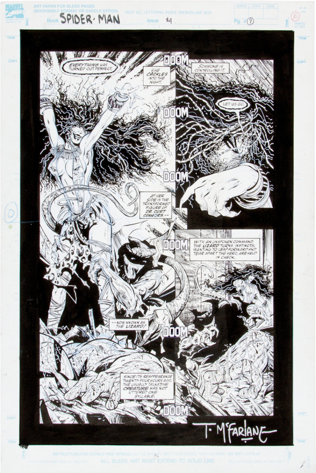 Spider Man issue 4 page 7 by Todd McFarlane