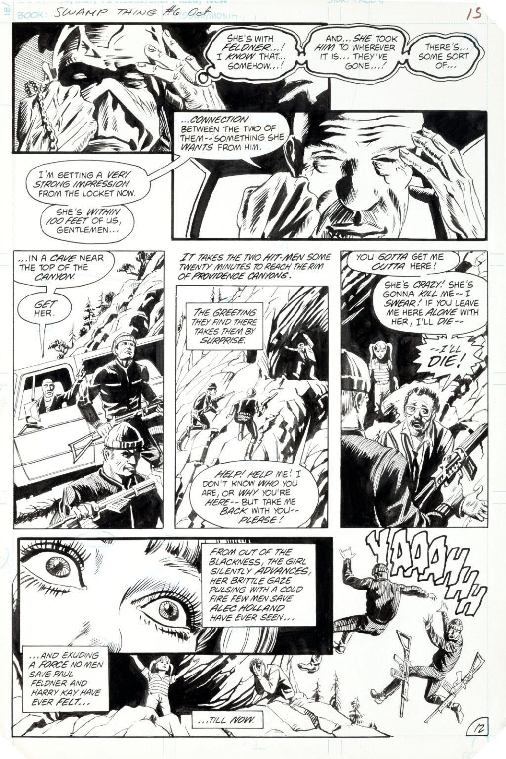 Saga of the Swamp Thing issue 6 page 12 by Tom Yeates