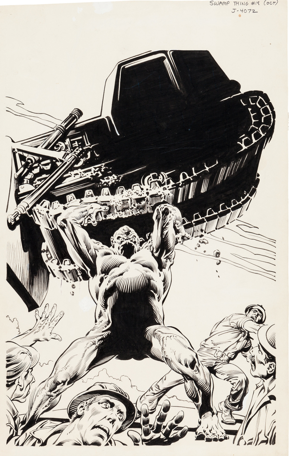 Swamp Thing issue 19 cover by Nestor Redondo