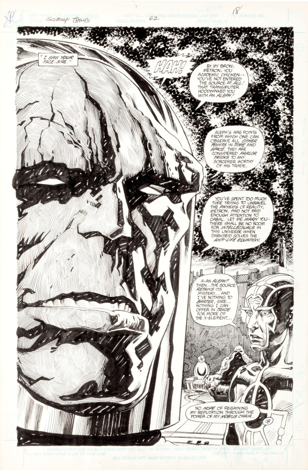 Swamp Thing issue 62 Pages 18 by Rick Veitch and Alfredo Alcala