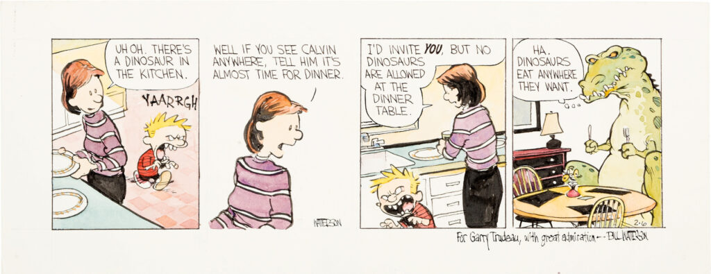 Bill Watterson Calvin and Hobbes Daily 2 6 87