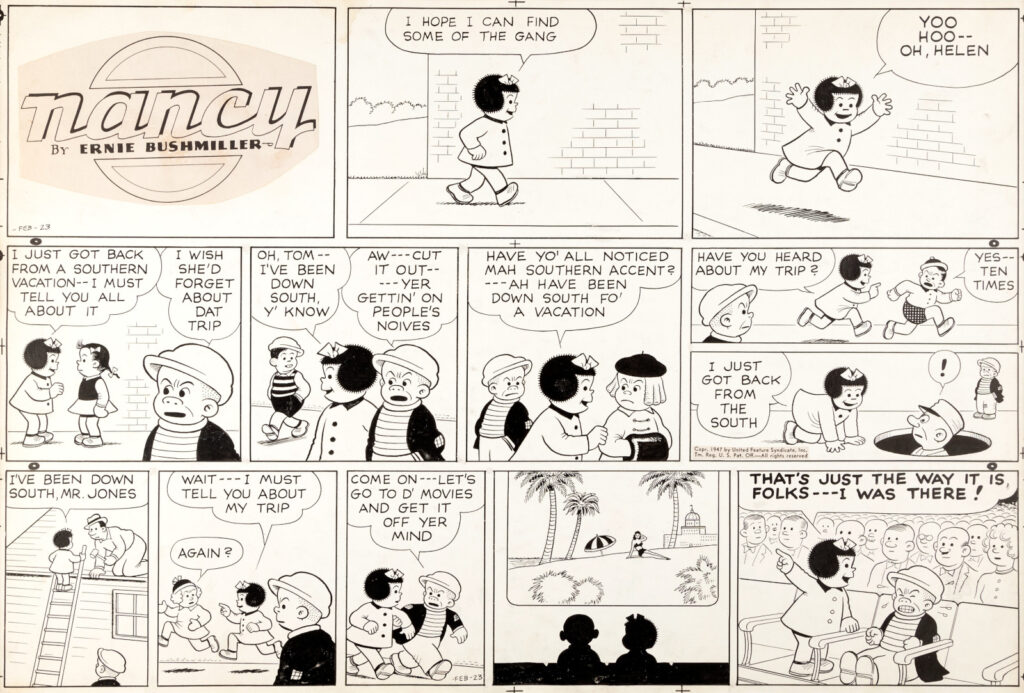 Ernie Bushmiller Nancy Sunday 2 23 47