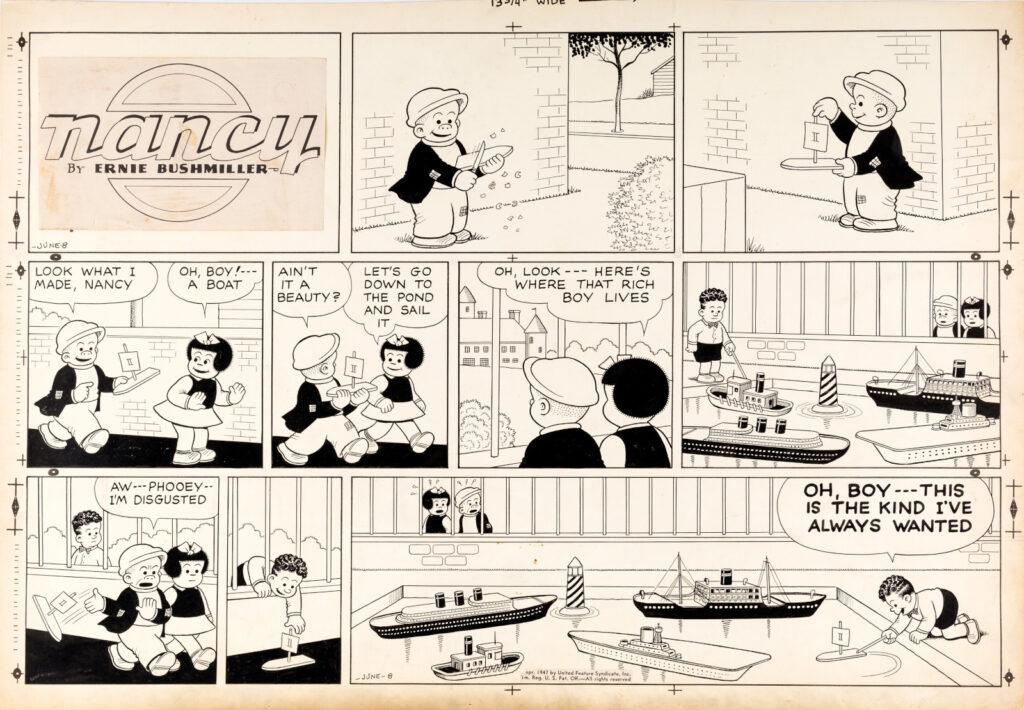 Ernie Bushmiller Nancy Sunday 6 8 47