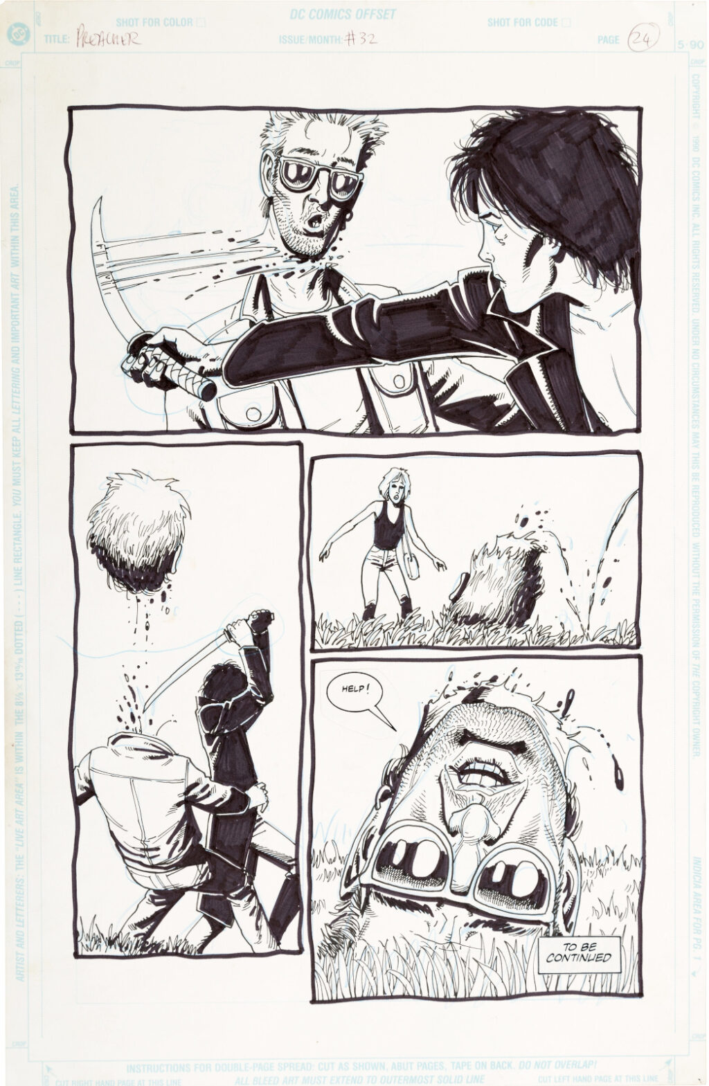 Preacher issue 32 page 24 by Steve Dillon