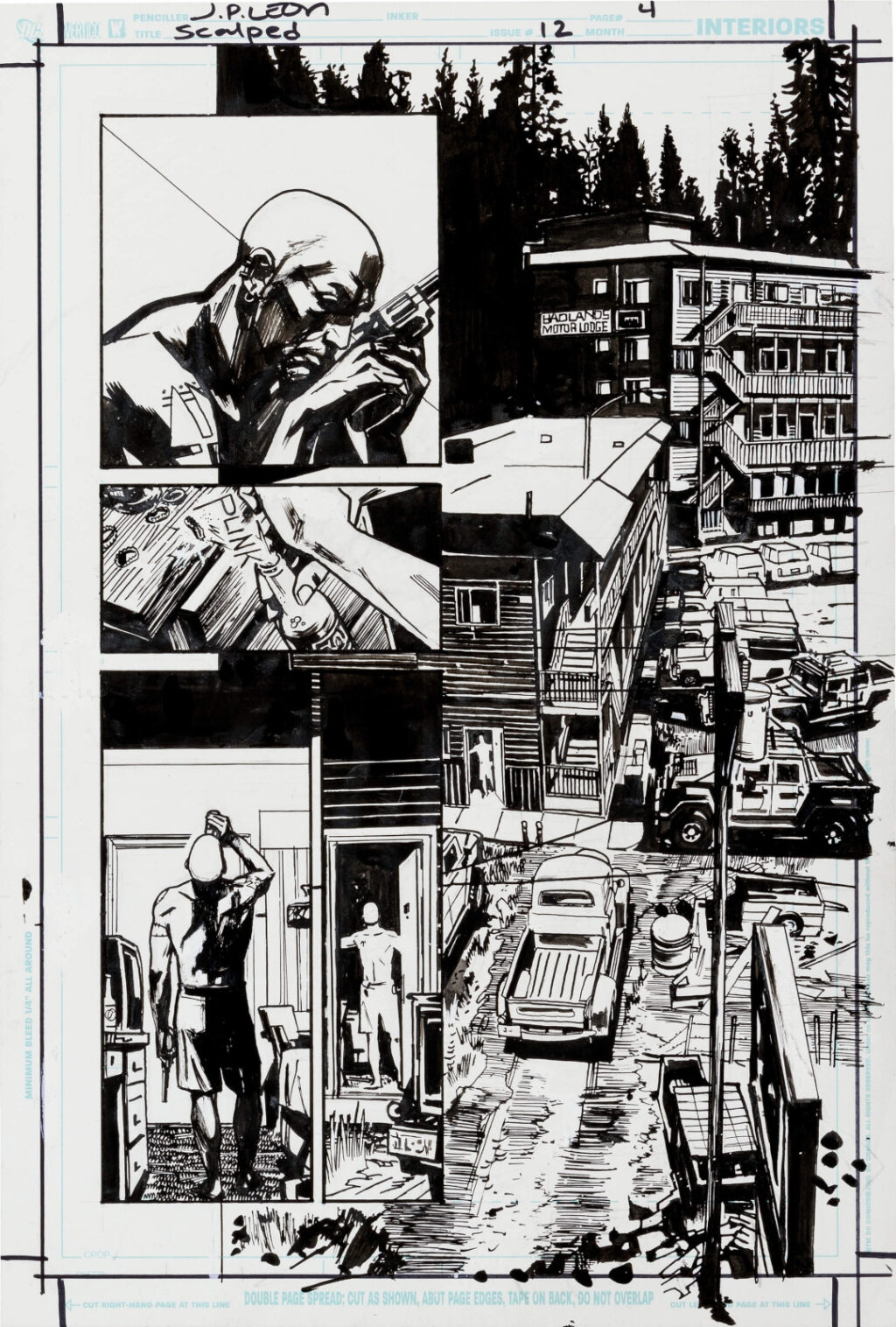 Scalped issue 12 page 4 by John Paul Leon