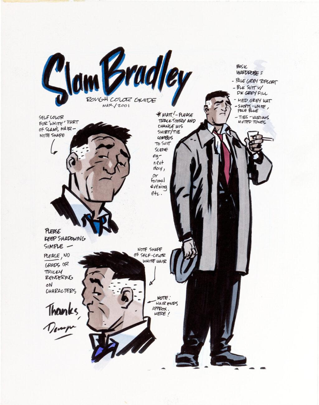 Slam Bradley Model Sheet by Darwyn Cooke