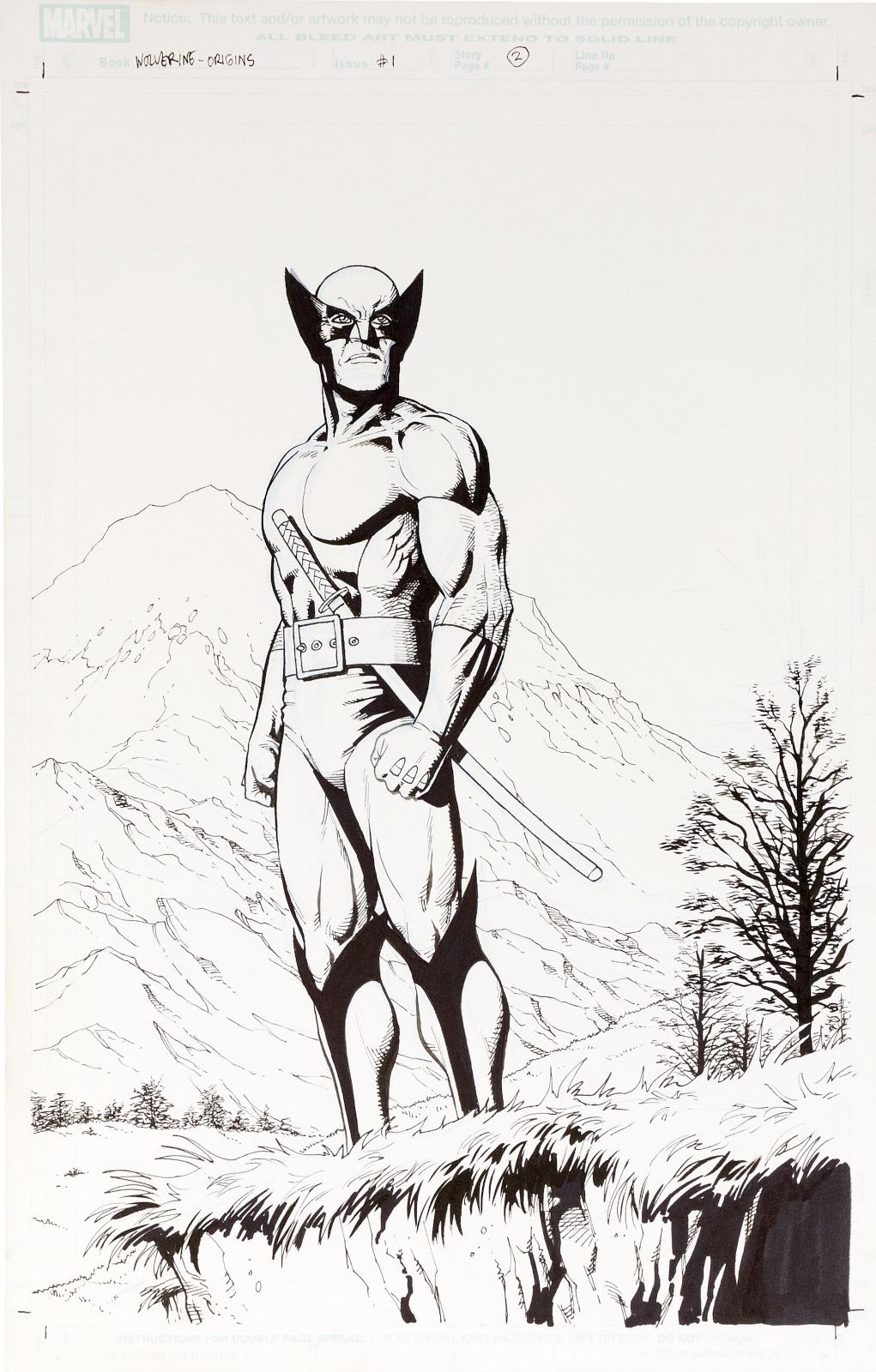 Wolverine Origins issue 1 splash by Steve Dillon