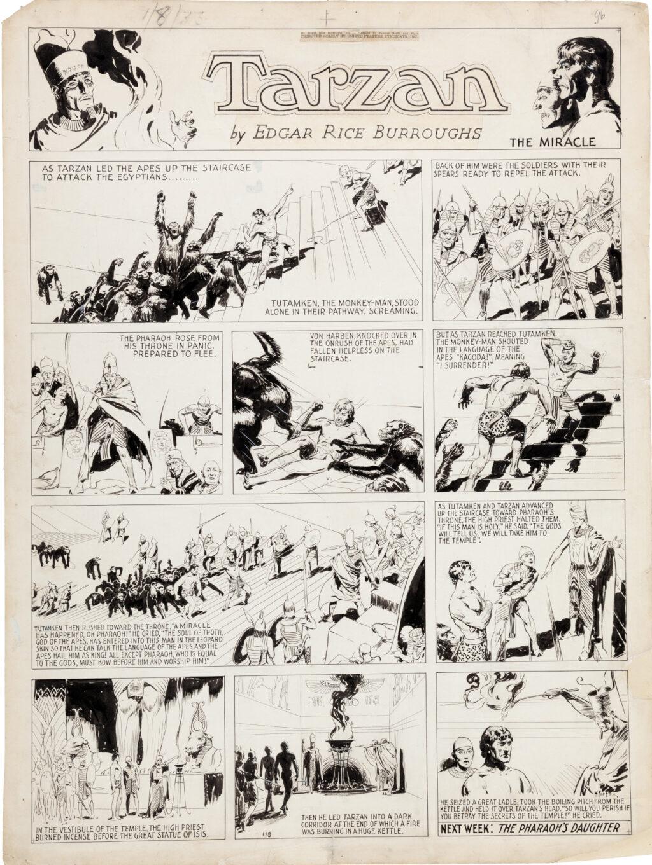 Tarzan Sunday 1 8 1933 by Hal Foster