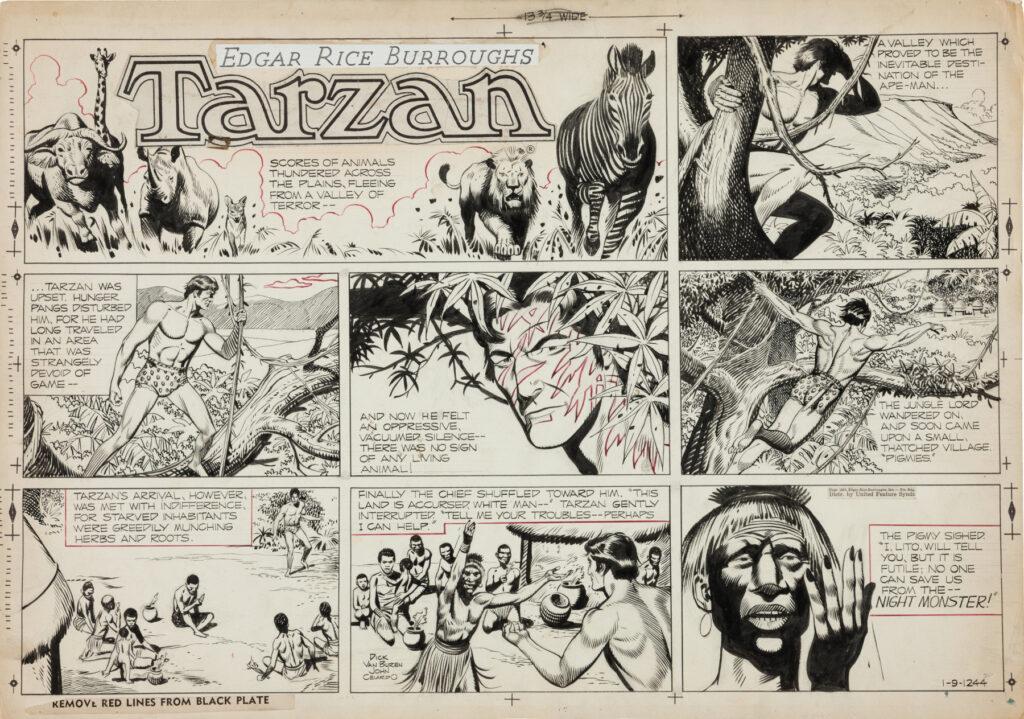 Tarzan Sunday 1 9 1955 by John Celardo