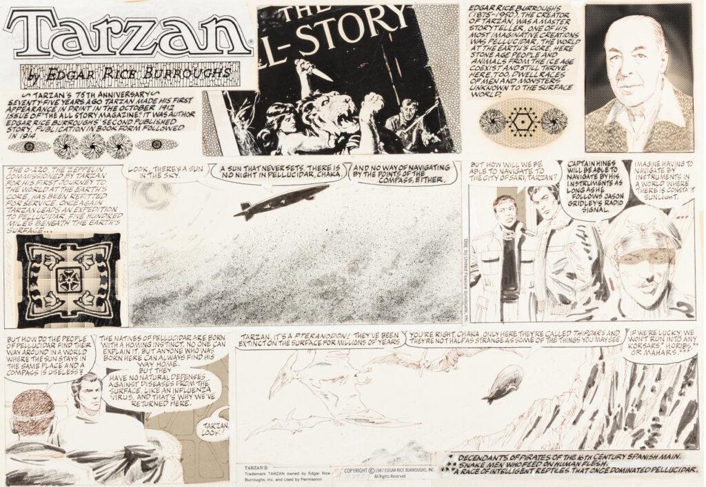 Tarzan Sunday 10 4 1987 by Gray Morrow