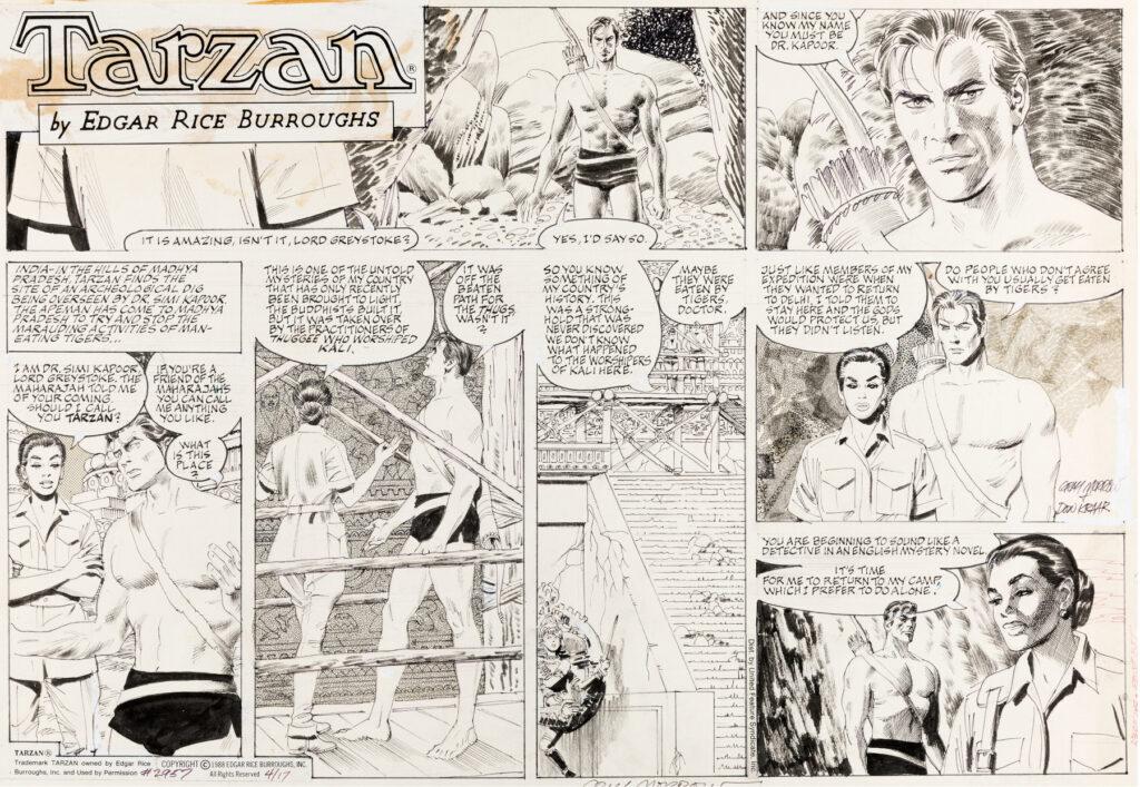 Tarzan Sunday 4 17 1988 by Gray Morrow