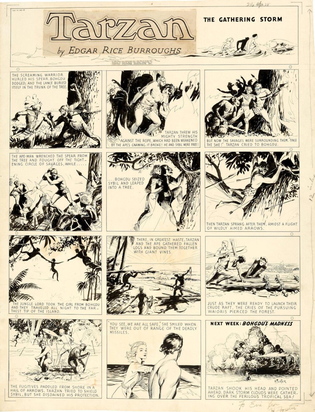 Tarzan Sunday 4 28 1935 by Hal Foster