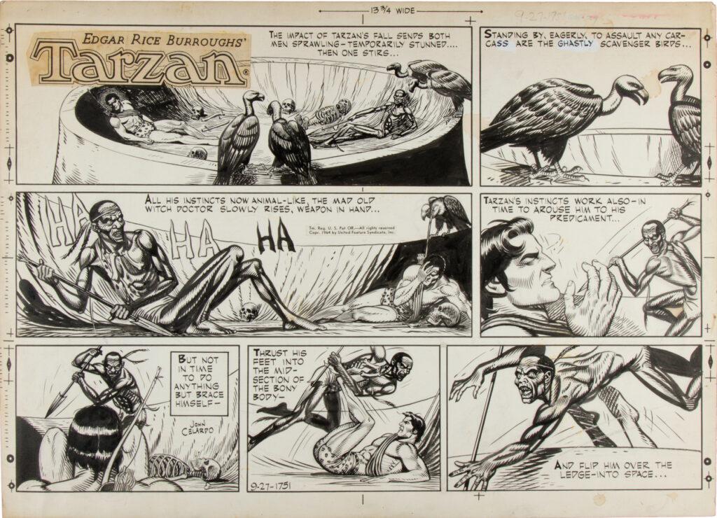 Tarzan Sunday 9 27 1964 by John Celardo