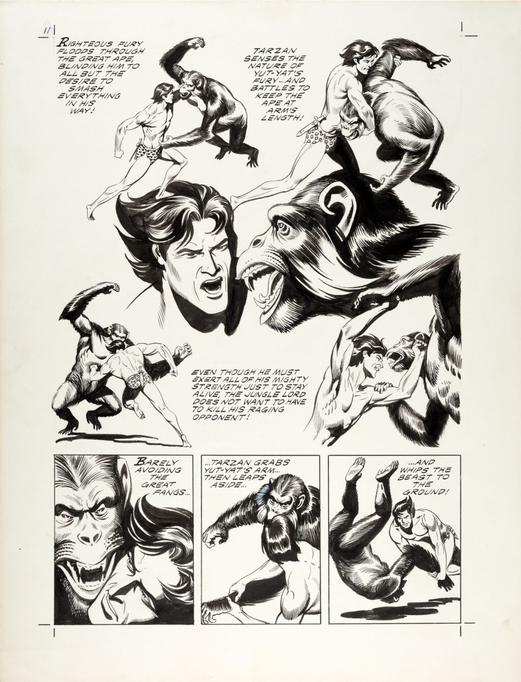 Tarzan and the Beast Master page 11 by Russ Manning