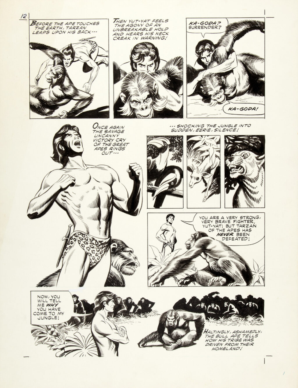 Tarzan and the Beast Master page 12 by Russ Manning