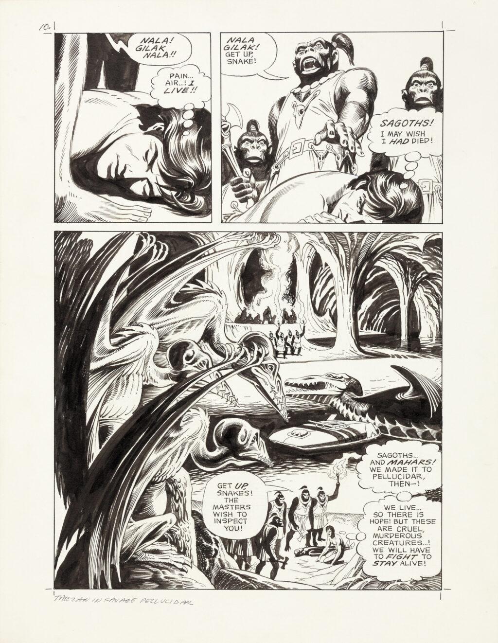 Tarzan in Savage Pellucidar page 10 by Russ Manning