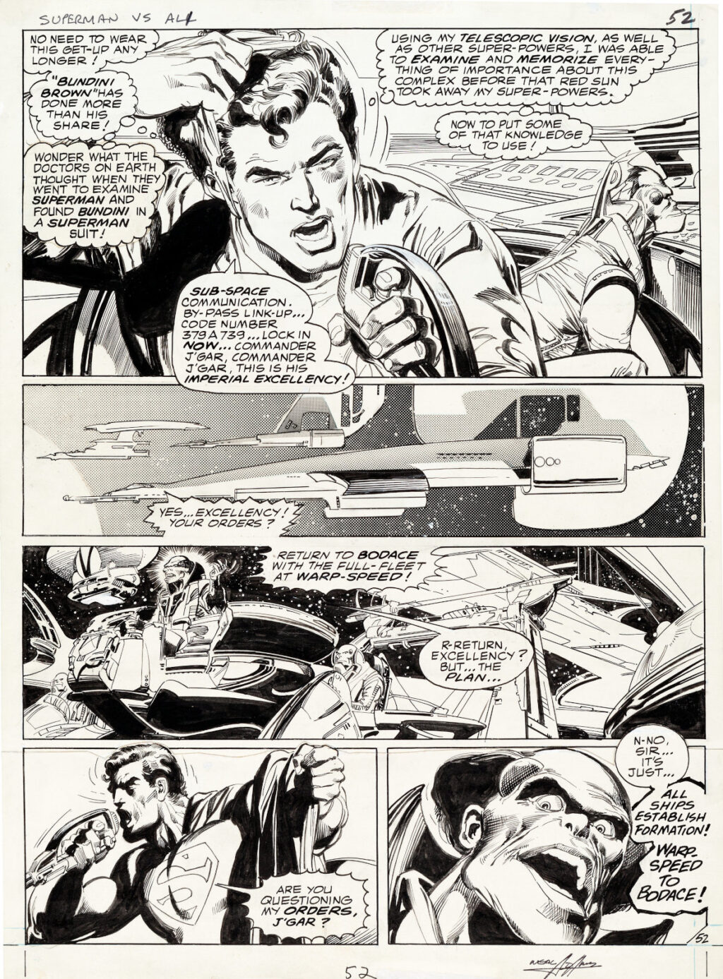 All New Collectors Edition C 56 page 52 by Neal Adams and Dick Giordano