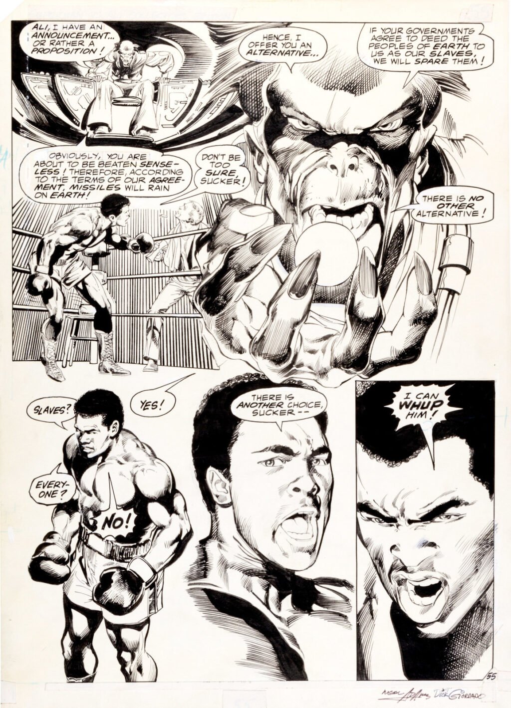 All New Collectors Edition C 56 page 55 by Neal Adams and Dick Giordano
