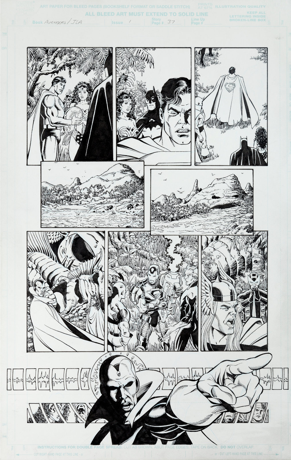 JLA Avengers issue 1 page 37 by George Perez and Tom Smith