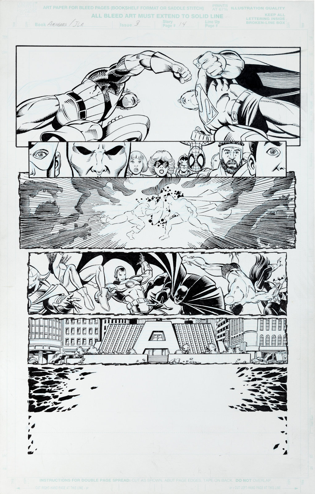 JLA Avengers issue 3 page 14 by George Perez and Tom Smith