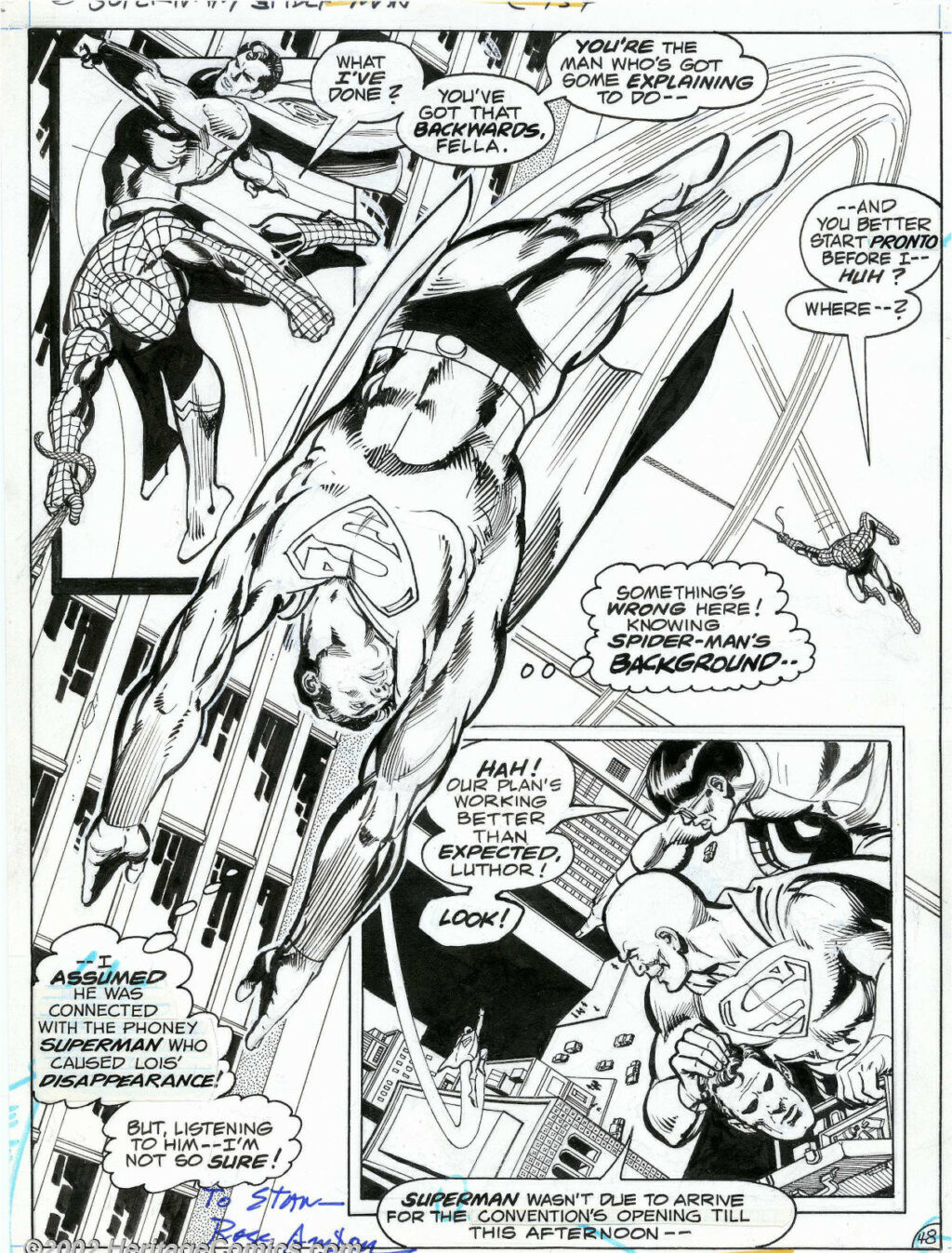Superman vs. Spider Man page 48 by Ross Andru and Dick Giordano