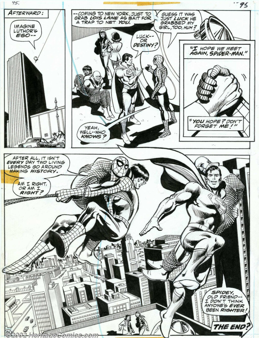 Superman vs. Spider Man page 91 by Ross Andru and Dick Giordano