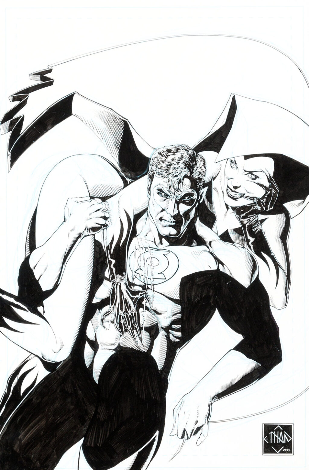 Green Lantern issue 15 cover by Ethan Van Sciver