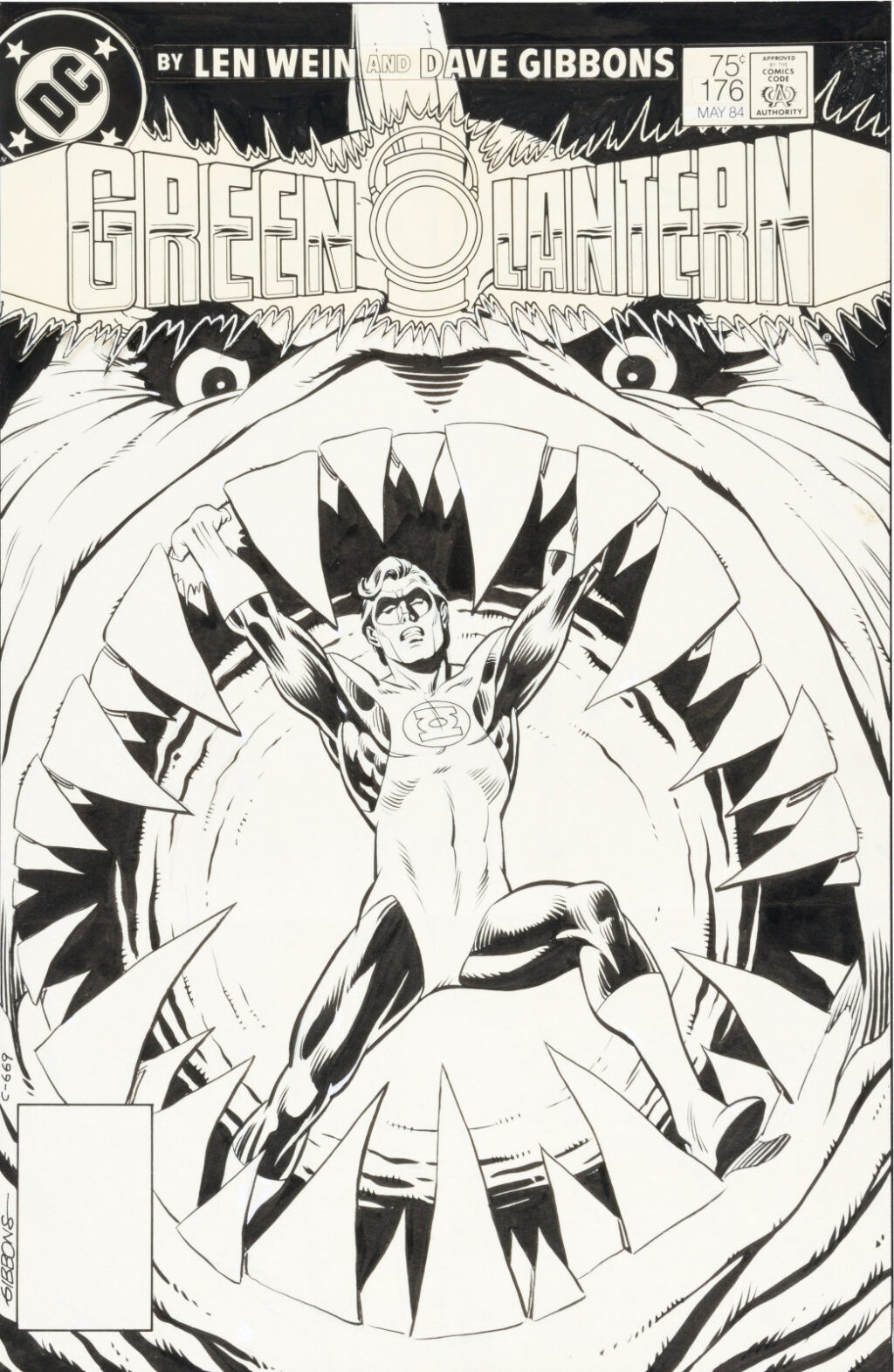 Green Lantern issue 176 cover by Dave Gibbons