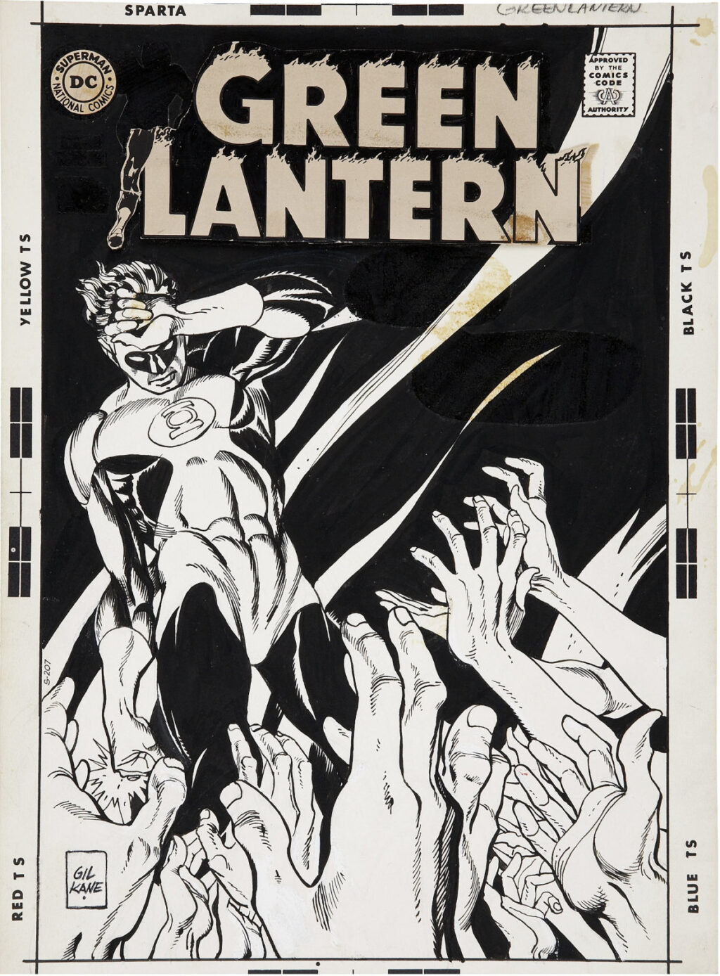 Green Lantern issue 71 cover by Gil Kane