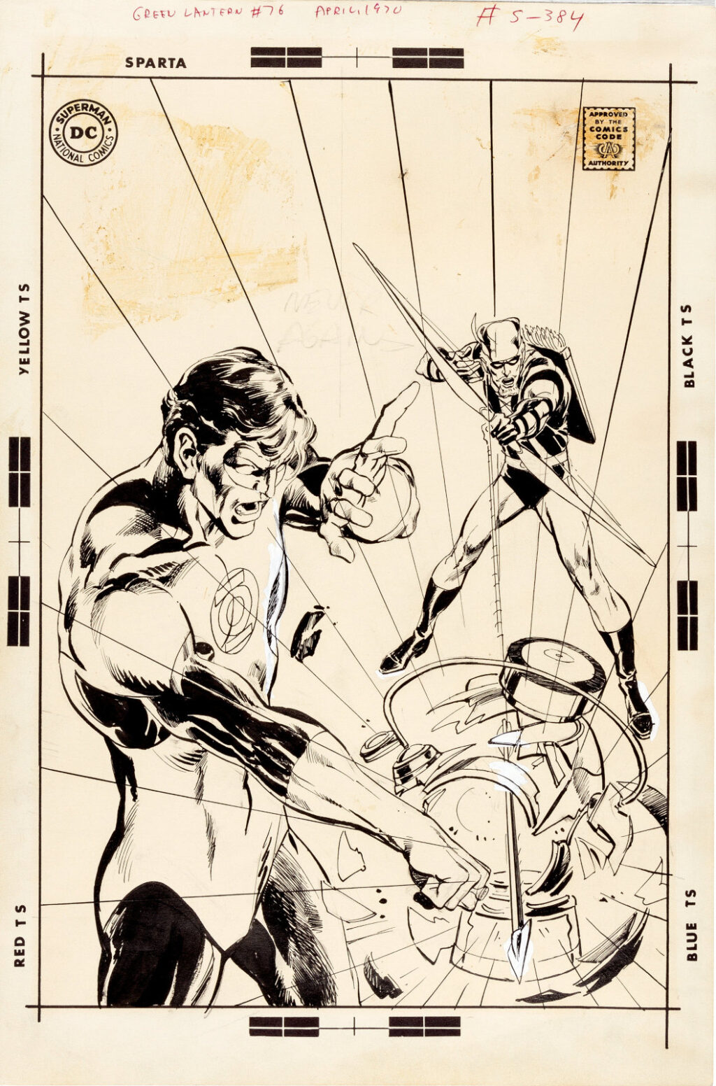 Green Lantern issue 76 cover by Neal Adams