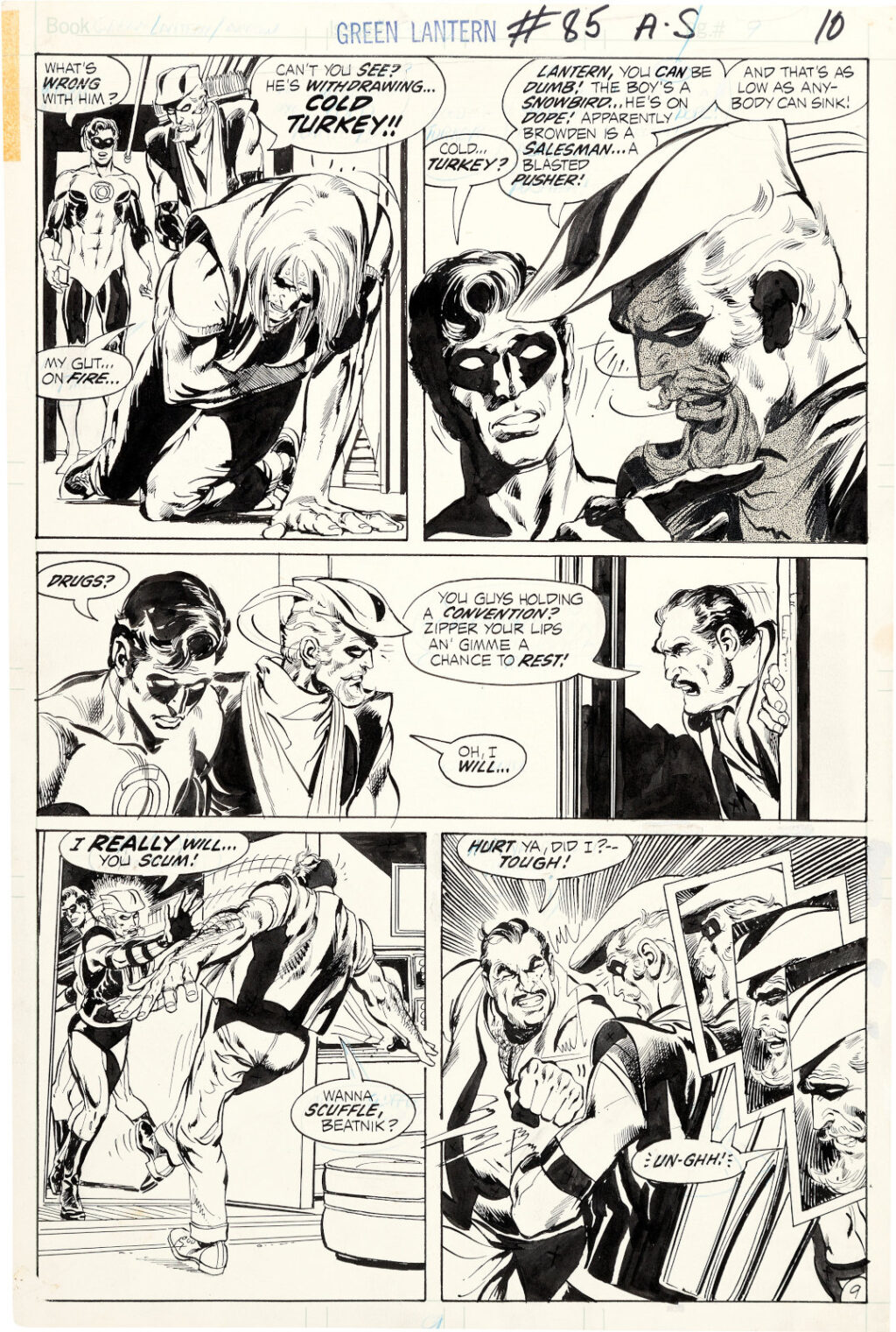 Green Lantern issue 85 page 9 by Neal Adams