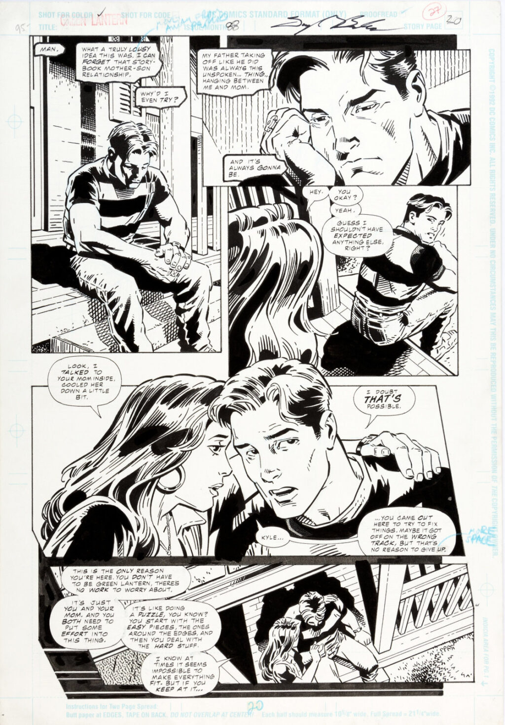 Green Lantern issue 88 page 20 by Darryl Banks and Terry Austin