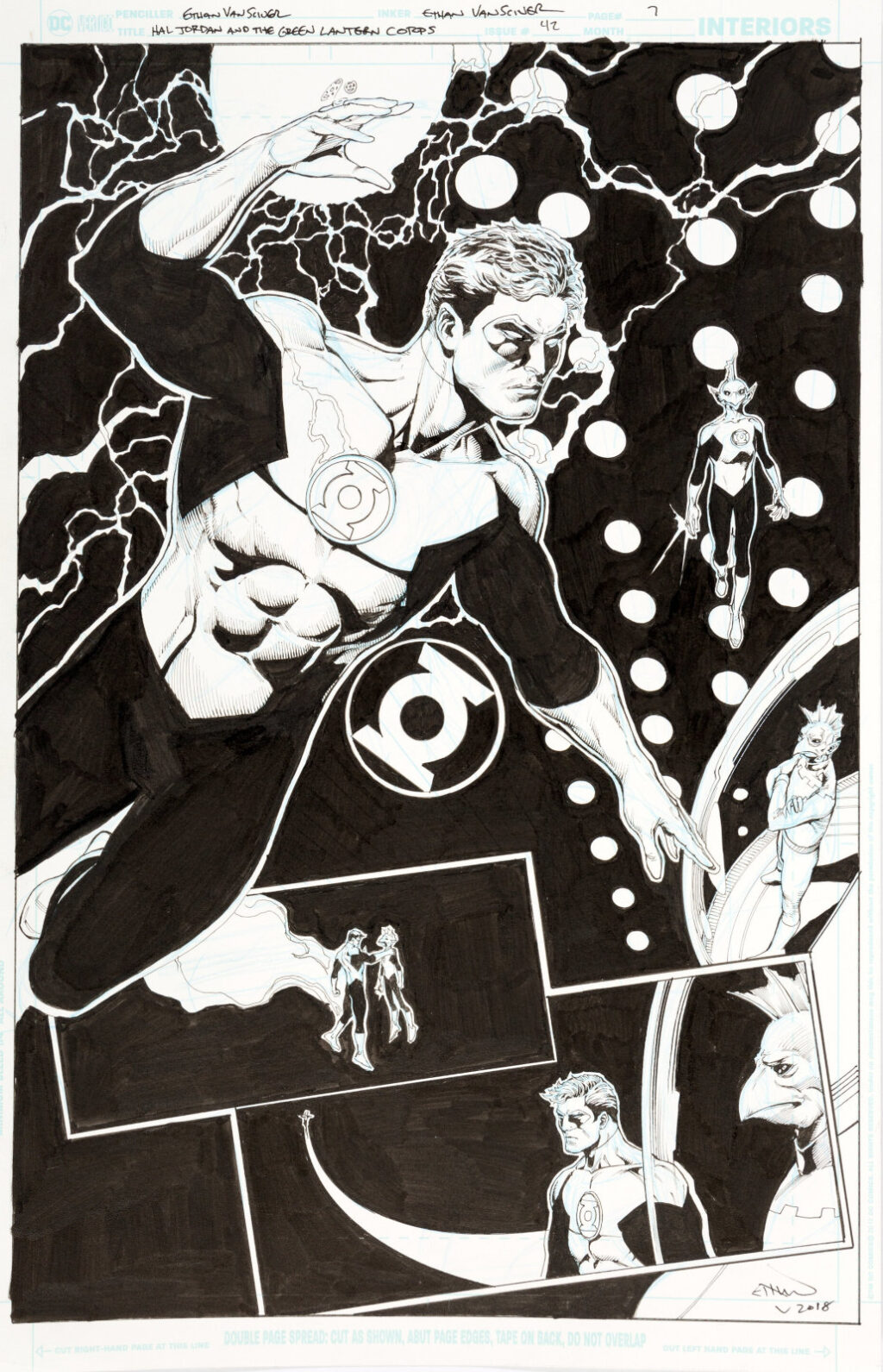 Hal Jordan and the Green Lantern Corps issue 42 page 7 by Ethan Van Sciver