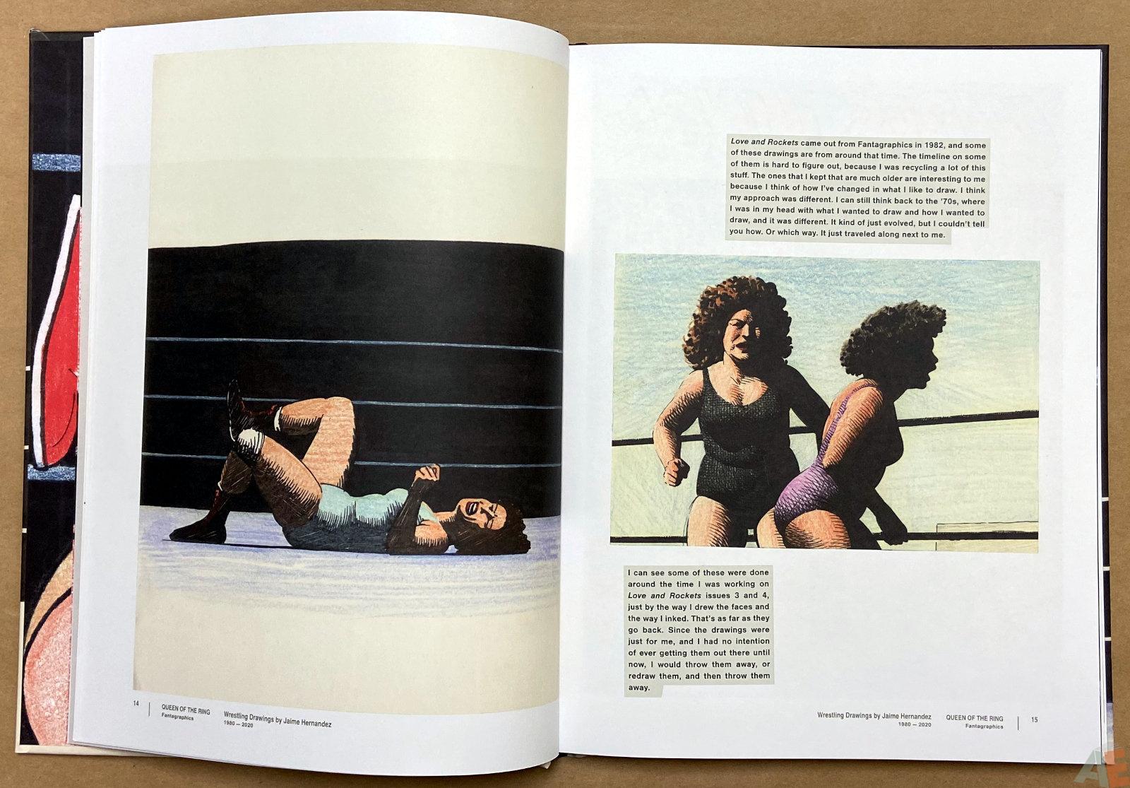 Queen of the Ring Wrestling Drawings by Jaime Hernandez 1980 2020 interior 3