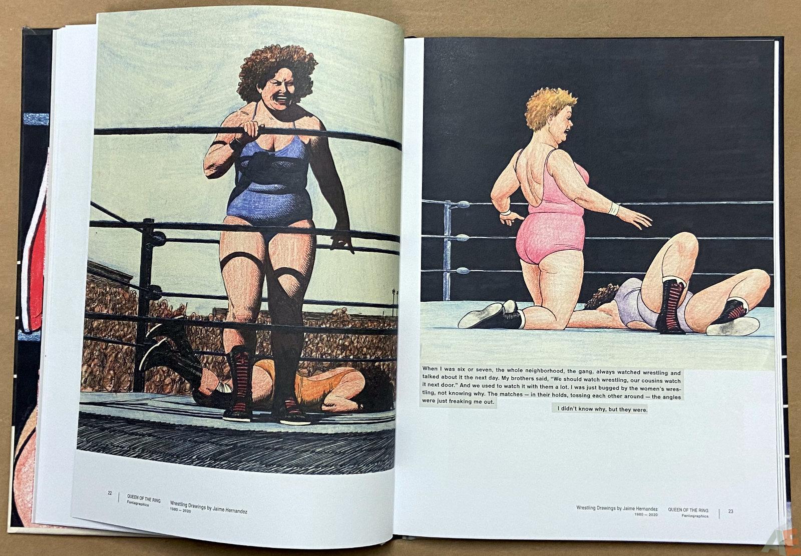 Queen of the Ring Wrestling Drawings by Jaime Hernandez 1980 2020 interior 4